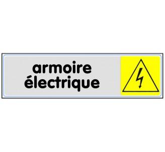 Plaque de porte plexi couleur armoire électrique