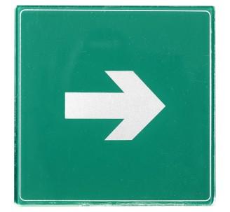 Pictogramme plexi couleur flèche droite ou gauche