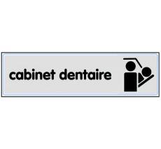 Plaque de porte plexi argent cabinet dentaire