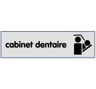 Plaque de porte plexi classique argent cabinet dentaire