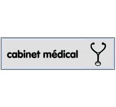 Plaque de porte plexi argent cabinet médical