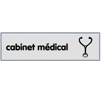 Plaque de porte plexi classique argent cabinet médical