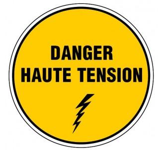 Panneau PVC rigide diamètre 300mm danger haute tension
