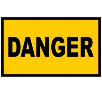 Panneau PVC rigide dim: H 200 x L 330 mm danger