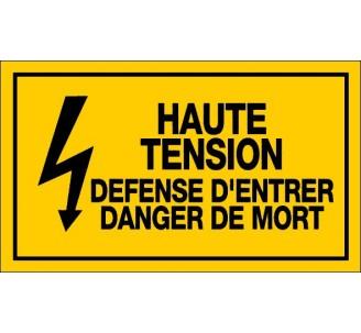 Panneau PVC rigide dim: H 200 x L 330 mm haute tension