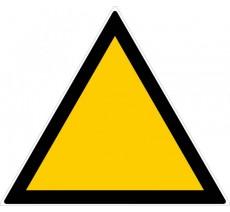 Panneau PVC rigide forme triangulaire de 300mm de côté danger vierge
