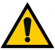 Panneau PVC rigide forme triangulaire danger