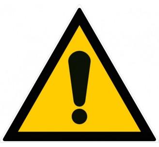 Panneau PVC rigide forme triangulaire de 300mm de côté danger
