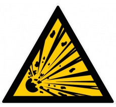 Panneau PVC rigide danger matières explosives