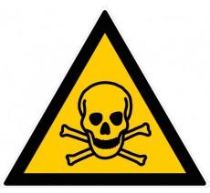 Panneau PVC rigide forme triangulaire de 300mm de côté danger de mort