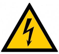 Panneau PVC rigide forme triangulaire de 300mm de côté danger éléctrique
