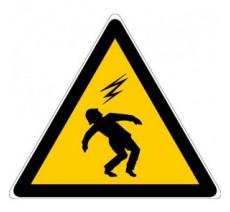 Panneau PVC rigide danger électrocution