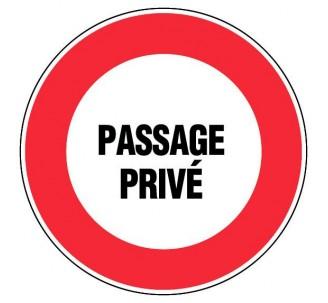Panneau PVC rigide diamètre 300mm passage privé
