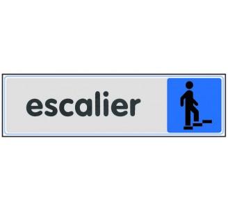 Plaque de porte plexi couleur Escalier