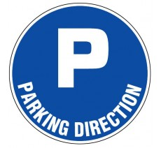 Panneau PVC rigide diamètre 300mm parking direction