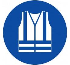 Panneau PVC rigide Gilet de sécutité haute visibilité obligatoire