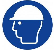 Panneau PVC rigide diamètre 300mm casque de protection obligatoire