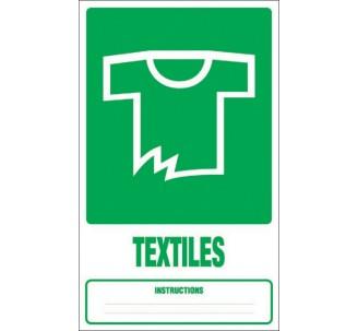 Panneau PVC rigide dim: H 330x L 200 mm tri sélectif textiles