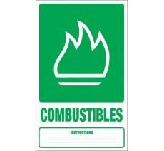 Adhésif ou panneau PVC rigide dim: H 330x L 200 mm tri sélectif combustibles