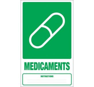 Panneau PVC rigide dim: H 330x L 200 mm tri sélectif médicaments