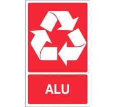 Panneau PVC rigide dim: H 330x L 200 mm recyclage sélectif alu