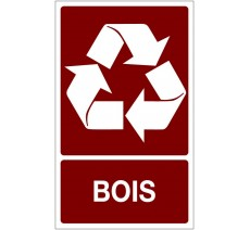 Panneau PVC rigide dim: H 330x L 200 mm recyclage sélectif bois
