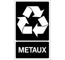 Panneau PVC rigide dim: H 330x L 200 mm recyclage sélectif métaux
