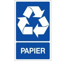 Panneau PVC rigide dim: H 330x L 200 mm recyclage sélectif papier