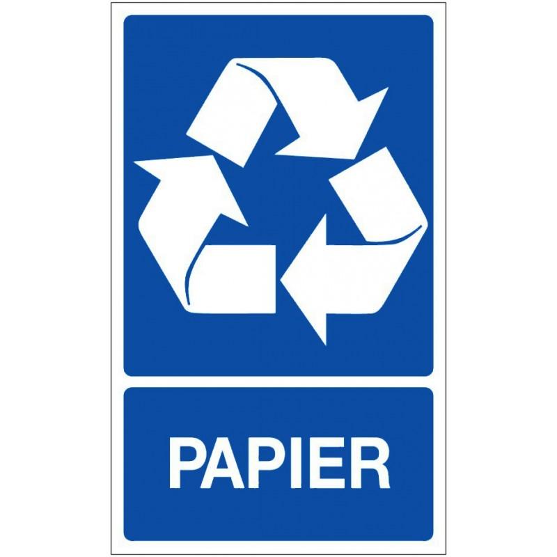 panneau recyclage s lectif papier en pvc 330x200 mm. Black Bedroom Furniture Sets. Home Design Ideas
