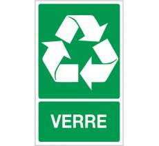 Panneau PVC rigide dim: H 330x L 200 mm recyclage sélectif verre