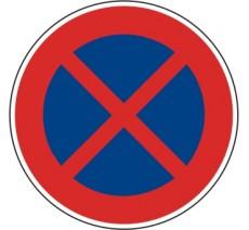 """Kit ou panneau routier """"Arrêt et Stationnement interdit"""" B6D"""