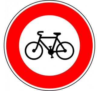 "Kit ou panneau seul type routier ""Accès interdit aux cycles"" ref: B9b"