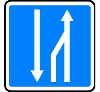 """Panneau ou kit type routier """"Créneau de dépassement"""" ref:C29a"""