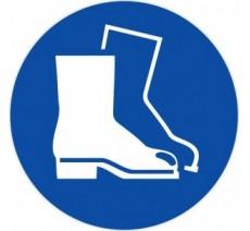 Panneau PVC rigide chaussures de sécurité obligatoires