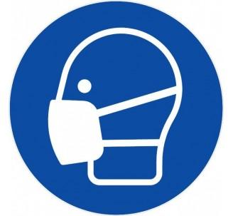 Panneau PVC rigide masque obligatoire