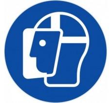 Panneau PVC rigide visière de protection obligatoire