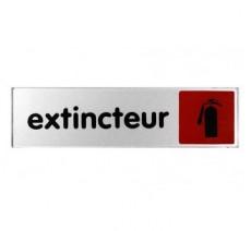 Plaque de porte plexi couleur Extincteur