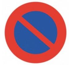 Panneau PVC rigide défense de stationner