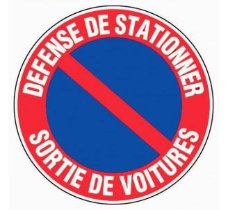 Panneau PVC rigide défense de stationner - sortie de voitures