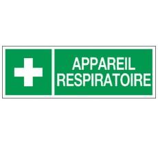 Adhésif ou panneau PVC rigide dim: H 120 x L 330 mm Appareil respiratoire