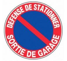 Panneau PVC rigide diamètre 300mm défense de stationner - sortie de garage