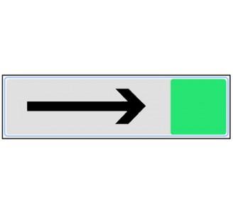 Plaque de porte plexi couleur Flèche droite ou gauche