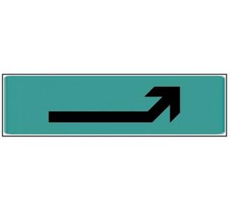 Plaque de porte plexi couleur flèche en haut droite