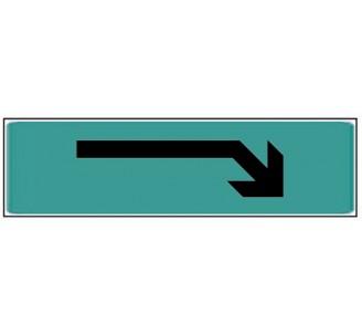 Plaque de porte plexi couleur flèche en haut gauche