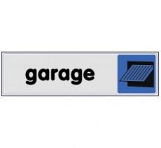 Plaque de porte plexi couleur garage