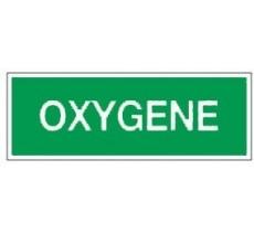 Adhésif ou panneau PVC rigide dim: H 120 x L 330 mm Oxygène