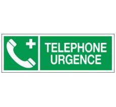 Adhésif ou panneau PVC rigide dim: H 120 x L 330 mm Téléphone d'urgence