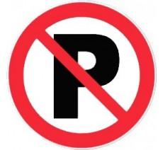 Panneau PVC rigide  parking interdit