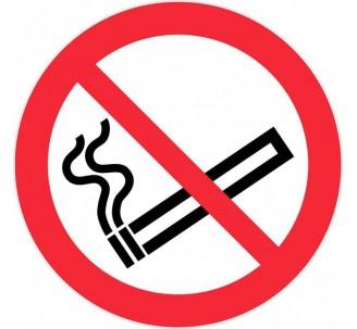 Panneau PVC rigide défense de fumer