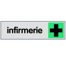Plaque de porte plexi couleur infirmerie